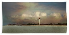 Cape May Lighthouse II Bath Towel by John Rivera