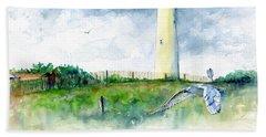 Cape May Lighthouse Bath Towel