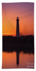 Cape May Lighthouse Reflections Hand Towel