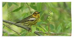 Cape May Warbler Bath Towel
