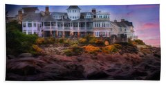 Bath Towel featuring the photograph Cape Neddick Maine Scenic Vista by Shelley Neff