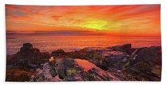 Cape Neddick Sunrise Bath Towel by Raymond Salani III