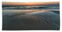 Cape San Blas Beach At Sunset Bath Towel