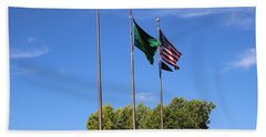 Capital Hill Olympia Washington Flags Hand Towel