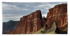 Capital Reef-cathedral Valley 9 Bath Towel by Jeff Brunton