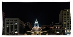 Capitol And Fountain Bath Towel by Randy Scherkenbach