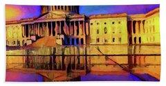 Capitol Building Reflection Bath Towel