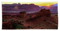Capitol Reef Sunrise Bath Towel