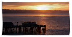 Capitola Day Begins Hand Towel