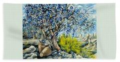 Cappadocia Nazar Tree Bath Towel by Anna Duyunova