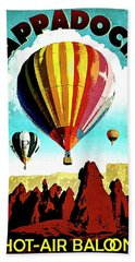 Cappadocia, Turkey, Hot Air Balloons Hand Towel
