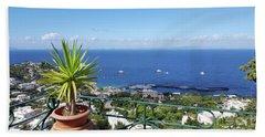 Capri Italy Hand Towel by Loriannah Hespe