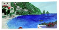 Hand Towel featuring the painting  Capri by Larry Cirigliano