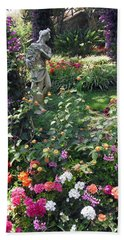 Bath Towel featuring the photograph Capri Street Scene Garden by Jodie Marie Anne Richardson Traugott          aka jm-ART