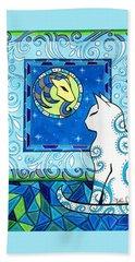 Capricorn Cat Zodiac Bath Towel