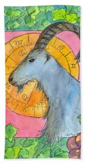 Hand Towel featuring the painting Capricorn by Cathie Richardson