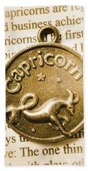 Capricorn Zodiac Lucky Charm Bath Towel