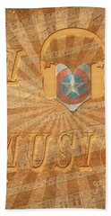 Bath Towel featuring the painting Captain America Lullaby Original Digital by Georgeta Blanaru