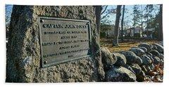 Captain John Locke Monument  Bath Towel