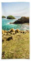 Captivating Coastal Cliff Bath Towel