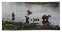 Capybara Family Bath Towel