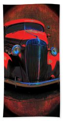 Car Art 0443 Red Oval Hand Towel