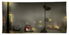 Hand Towel featuring the photograph Car - Down A Lonely Road 1940 by Mike Savad