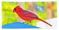 Cardinal Blue Hand Towel