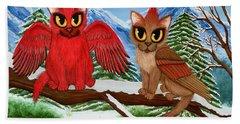 Cardinal Cats Hand Towel