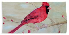 Cardinal II Hand Towel by Laurel Best