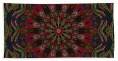 Hand Towel featuring the photograph Cardinal Kaleidoscope by Judy Wolinsky