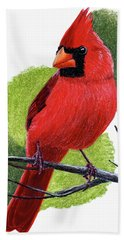 Bath Towel featuring the painting Cardinal1 by Joseph Ogle