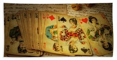 Cards And Dice Hand Towel