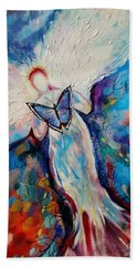 Care Of The Butterfly  Bath Towel