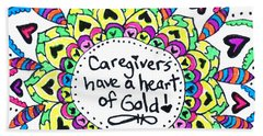 Caregiver Flower Bath Towel by Carole Brecht