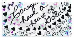 Caregiver Hearts Hand Towel