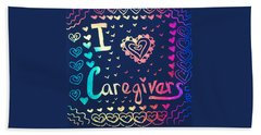 Caregiver Rainbow Bath Towel