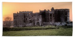 Carew Castle Coral Sunset Hand Towel