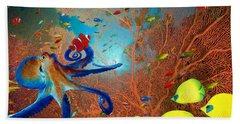 Caribbean Coral Reef Hand Towel