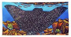 Caribbean Eagle Ray Bath Towel