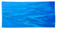 Bath Towel featuring the photograph Caribbean Ocean Abstract by Jetson Nguyen
