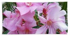 Hand Towel featuring the photograph Caribbean Oleander by Marie Hicks