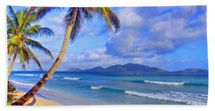 Caribbean Paradise Hand Towel by Scott Mahon