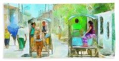 Caribbean Scenes - Carriage Ride Bath Towel