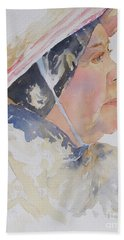 Hand Towel featuring the painting Caribbean Sun by Mary Haley-Rocks