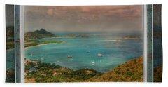 Hand Towel featuring the digital art Caribbean Symphony by Hanny Heim
