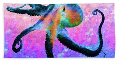 Caribbean Tango Abstract Bath Towel