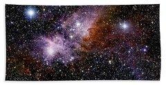 Carina Nebula, Ngc 3372, With Eta Hand Towel