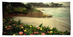 Carmel Beach And Iceplant Hand Towel by Joyce Dickens