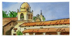 Carmel By The Sea - California Sketchbook Project  Hand Towel
